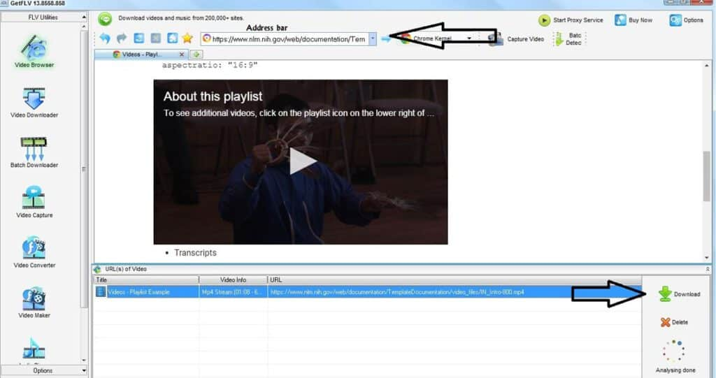 Download JW Player Videos Using GetFLV Player