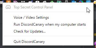 top secret control panel discord